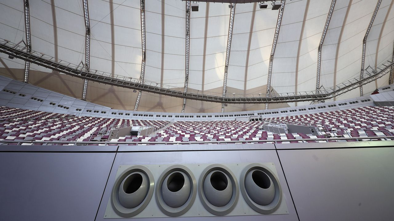 Stadion mit Kühlsystemen - Bildquelle: 2018 Getty Images
