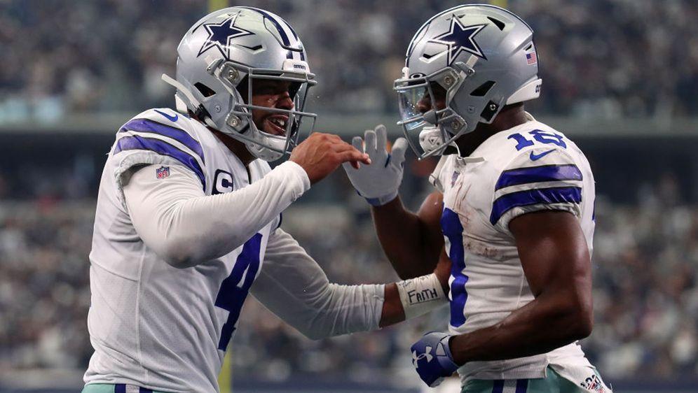 Dak Prescott (l) und Randall Cobb hatten gegen die New York Giants allen Gru... - Bildquelle: 2019 Getty Images
