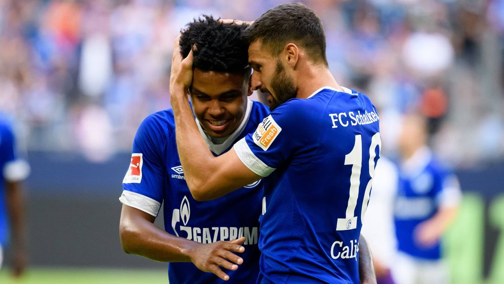 Torschütze Weston McKennie und Daniel Caligiuri vom FC Schalke 04 hatten im ... - Bildquelle: Imago