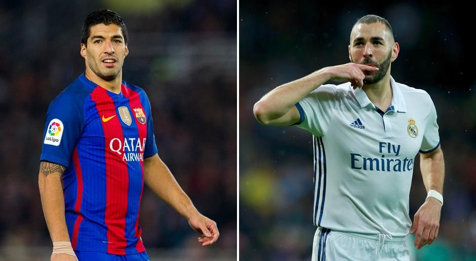 Luis Suarez vs. Karim Benzema - Bildquelle: getty images