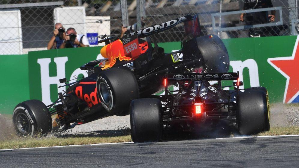 Beim Grand Prix in Monza schieden Max Verstappen und Lewis Hamilton nach ein... - Bildquelle: Imago