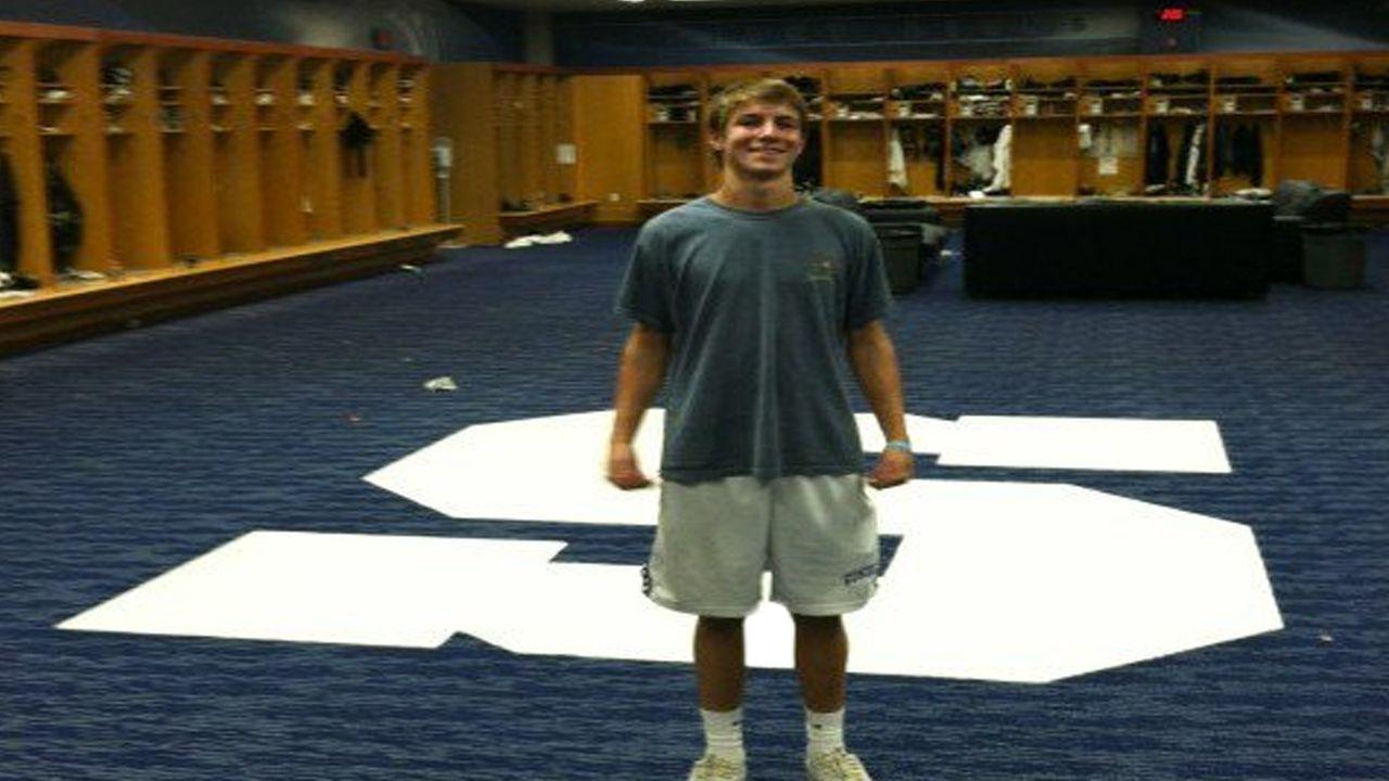 """Penn State - Das """"S"""" im Umkleideraum - Bildquelle: Twitter: @pmac_"""