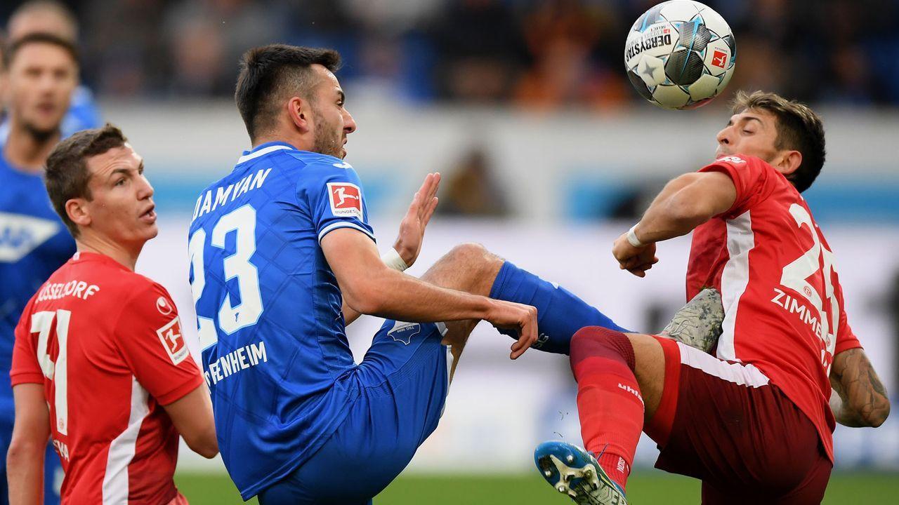 Fortuna Düsseldorf (27 Punkte, -27 Tore) - 1899 Hoffenheim (42 Punkte, -8 Tore) - Bildquelle: Getty Images