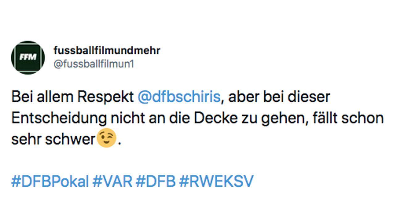 VAR-Wahnsinn im DFB-Pokal: So reagiert das Netz - Bildquelle: Twitter/fusbbalfilmun1
