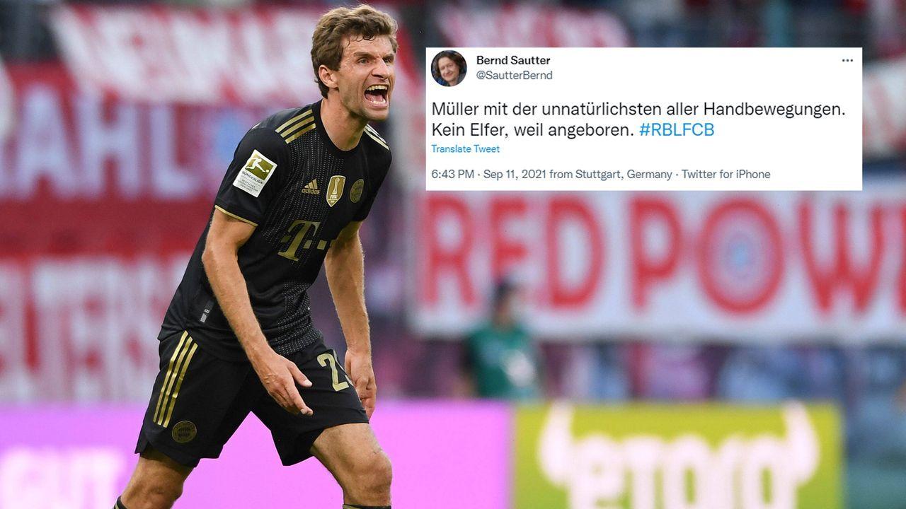 Müllers Handbewegung wird zum Politikum auf Twitter - Bildquelle: imago/twitter@SautterBernd
