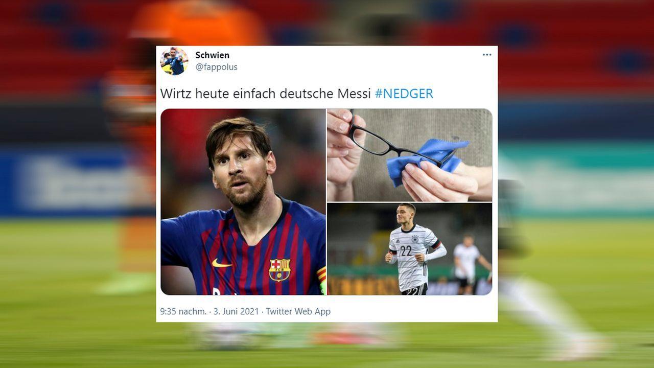 Wirtz was mit Messi?  - Bildquelle: twitter@fappolus