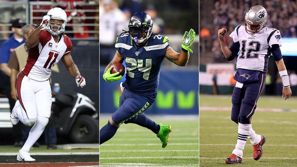 Tom Brady, Marshawn Lynch und Larry Fitzgerald zählen zu den besten Spielern... - Bildquelle: Getty Images