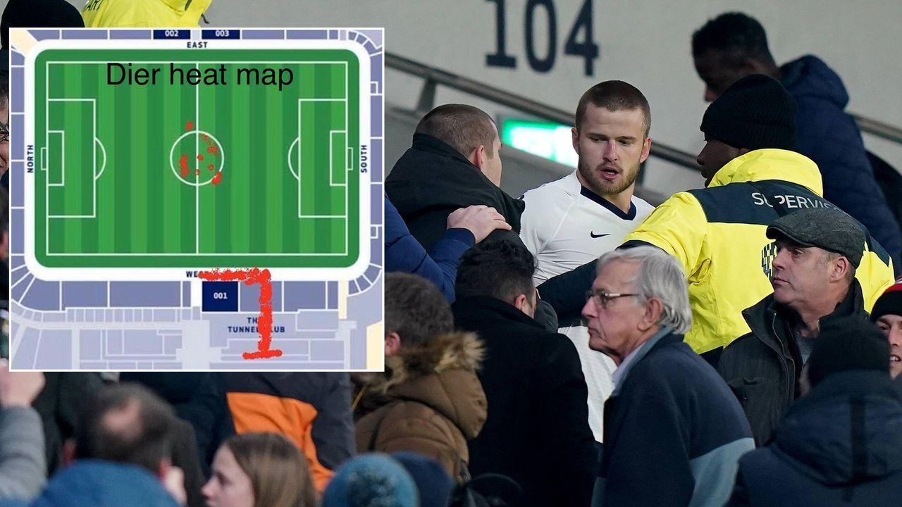 Wegen Fan-Disput: Twitter trollt Spurs-Star Dier mit kurioser Heatmap - Bildquelle: Imago/twitter@spursreddit
