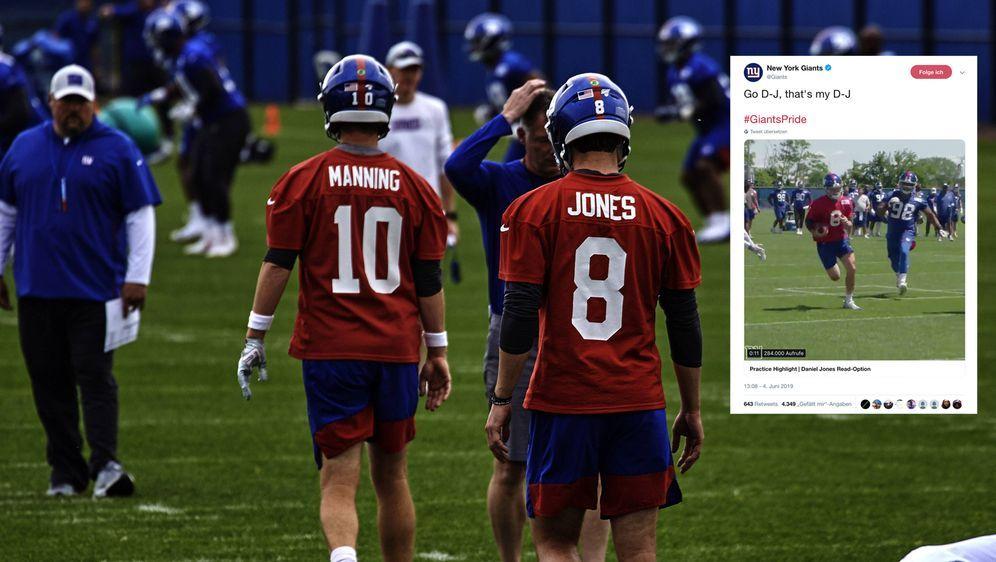 Regent und Thronfolger: Eli Manning und Daniel Jones. - Bildquelle: imago images / ZUMA Press