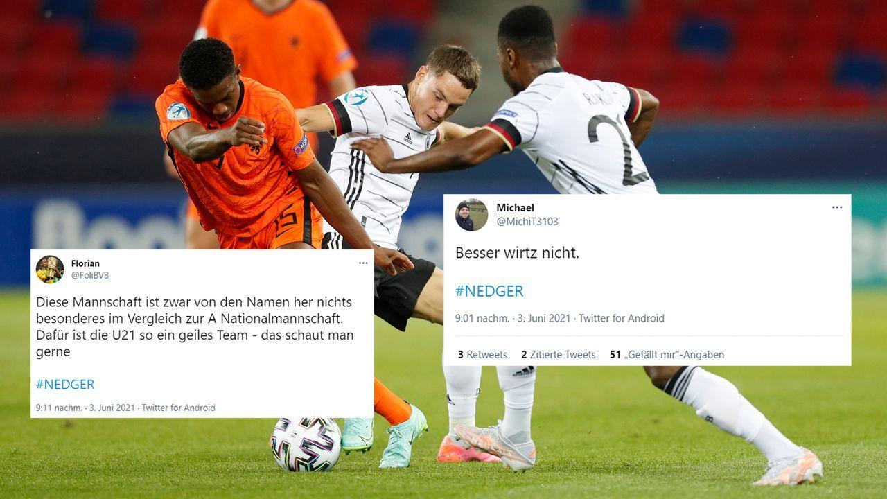 U21-EM: Netzreaktionen zum deutschen Final-Einzug gegen die Niederlande - Bildquelle: Getty Images/twitter@FoliBVB/twitter@MichiT3103