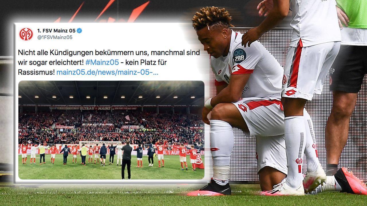 Mainz 05 rechnet mit rassistischem Fan ab - Bildquelle: imago images / Poolfoto