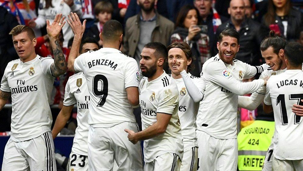 Real Madrid feiert 3:1-Sieg im Stadtderby - Bildquelle: AFPSIDPIERRE-PHILIPPE MARCOU
