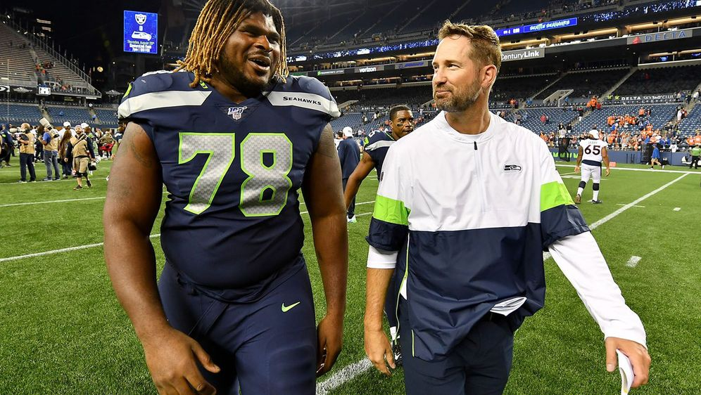 Brian Schottenheimer (r.) wurde bei den Seahawks entlassen. - Bildquelle: 2019 Getty Images