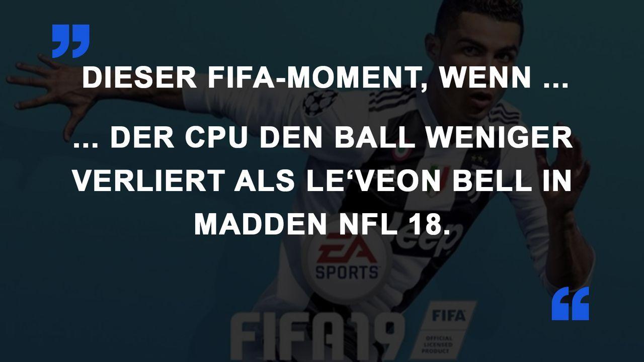 FIFA Momente Madden NFL
