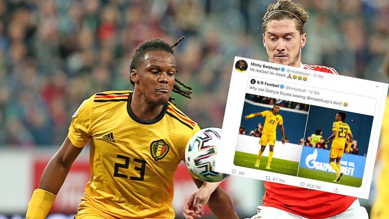Hertha-Profi spielt im falschen Trikot - Bildquelle: imago / twitter.com/mbatshuayi