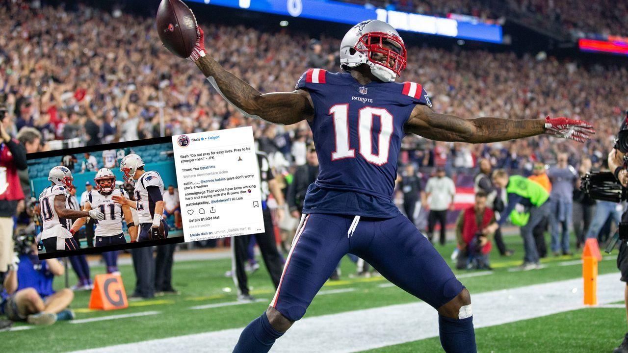 Josh Gordon bedankt sich für Vertrauen der New England Patriots - Bildquelle: imago/UPI Photo