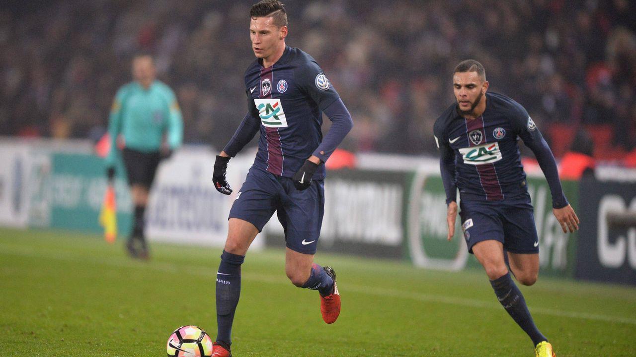Julian Draxler, Layvin Kurzawa und Leandro Paredes (Paris St. Germain) - Bildquelle: imago/PanoramiC