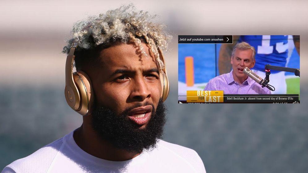 NFL Wide Receiver Odell Beckham Jr. und Moderator Colin Cowherd werden wohl ... - Bildquelle: imago / twitter @ TheHerd