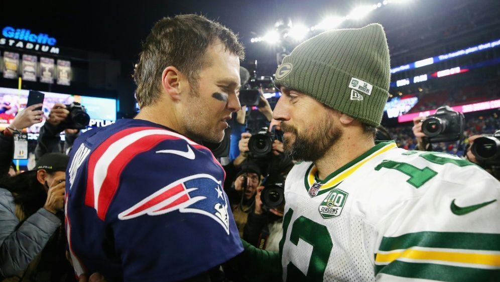 Tom Brady (l.) und Aaron Rodgers - Bildquelle: GETTY IMAGES NORTH AMERICAGETTY IMAGES NORTH AMERICASIDMaddie Meyer
