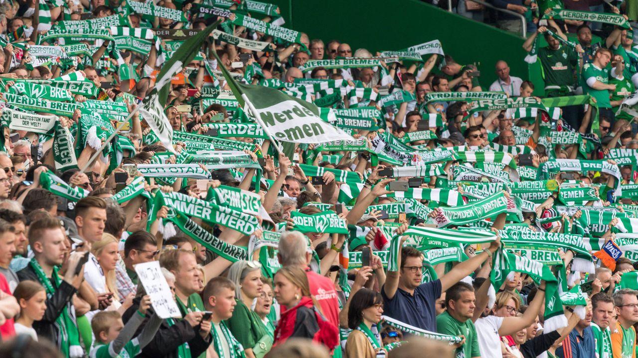 Platz 5 - SV Werder Bremen - Bildquelle: imago images / Nordphoto