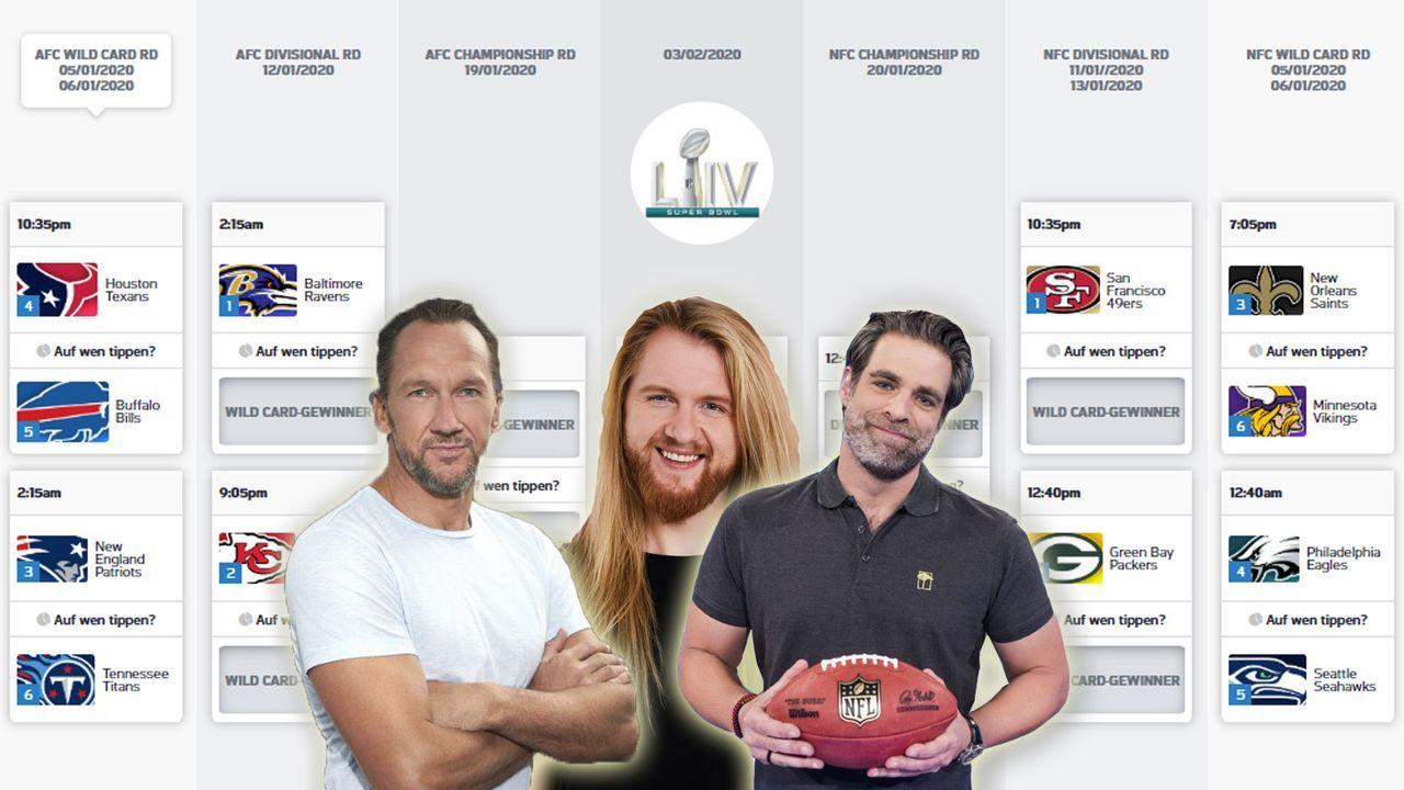 Die NFL-Experten tippen die Playoffs - Bildquelle: ran.de