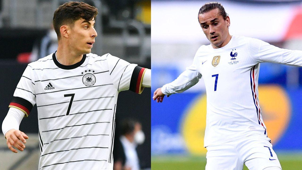 Mittelfeld: Kai Havertz vs. Antoine Griezmann - Bildquelle: Imago