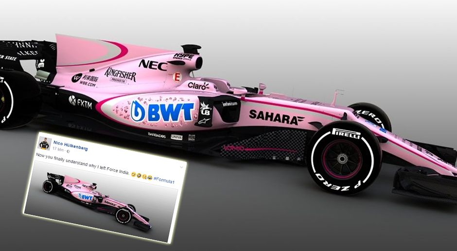 Force India VJM10 - Bildquelle: Twitter: @ForceIndiaF1