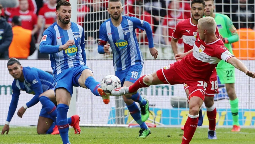 Trotz einer 1:3-Niederlage in Berlin bleibt der VfB 16. - Bildquelle: PIXATHLONPIXATHLONSID