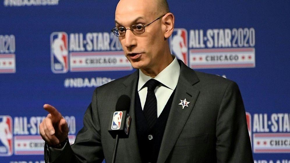 Plädiert für einen Start im Januar: NBA-Chef Adam Silver - Bildquelle: AFPGETTY SIDStacy Revere