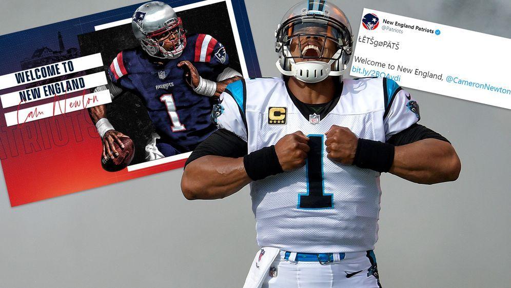Endlich offiziell: Die New England Patriots haben den Deal mit Cam Newton ve... - Bildquelle: Getty Images/Twitter@patriots